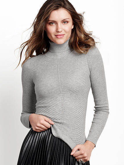 Victoria's Secret A Kiss Of Cashmere Ribbed Turtleneck Sweater ...