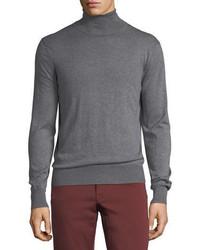 Cashmere silk turtleneck sweater medium 5359643