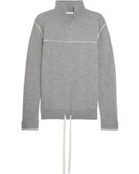 Chloé Cashmere Turtleneck Sweater Gray