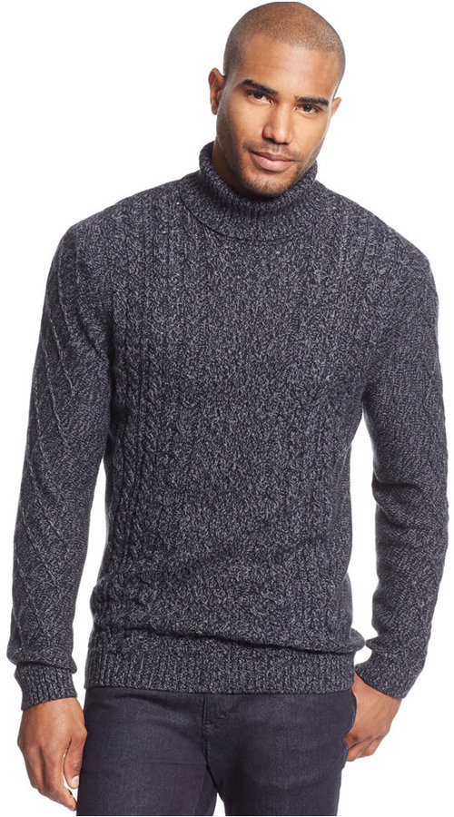 Tasso Elba Chunky Turtleneck Sweater Only At Macys Where To Buy