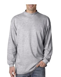UltraClub Egyptian Interlock Long Sleeve Mock Turtleneck T Shirt