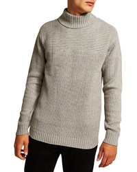 Topman Flint Ribbed Turtleneck Sweater