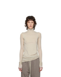 Rick Owens Lilies Grey Heavy Jersey Long Sleeve T Shirt