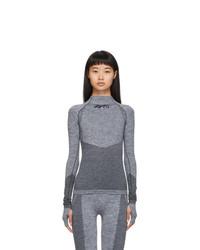 Reebok By Victoria Beckham Grey Seamless Long Sleeve T Shirt