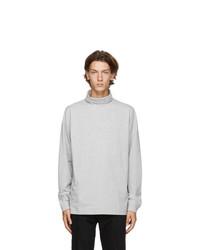 1017 Alyx 9Sm Grey Visual Roll Neck Long Sleeve T Shirt