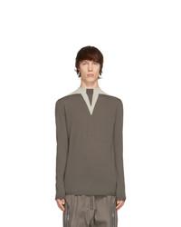 Rick Owens Grey Wool Round Neck Sweater