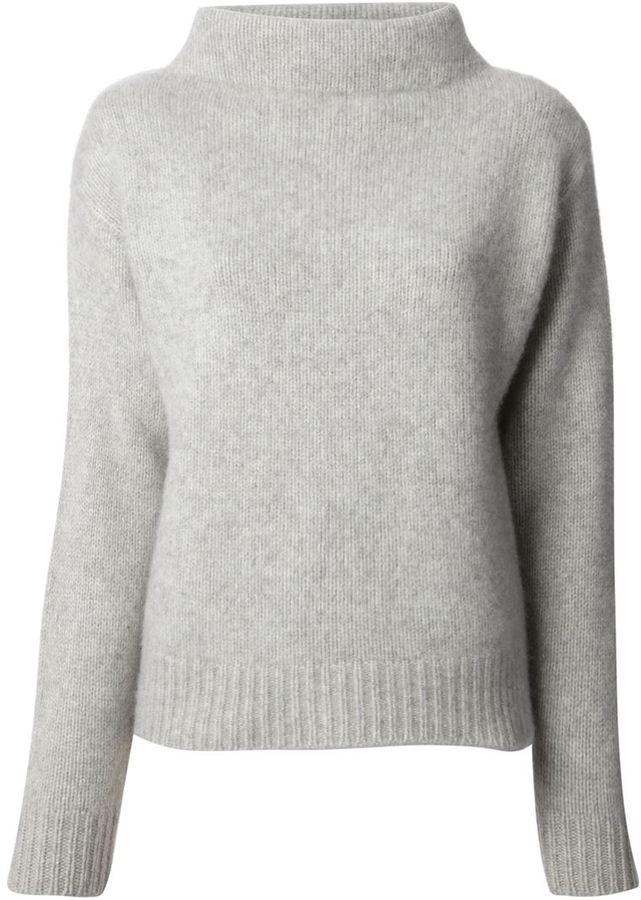 02dc3f3478ac ... Grey Turtlenecks Joseph Funnel Neck Sweater