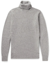Loro Piana Mlange Baby Cashmere Rollneck Sweater