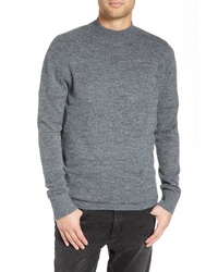 Treasure & Bond Regular Fit Brushed Mock Neck Sweater