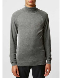 Rogues Of London Gray Turtle Neck Sweater