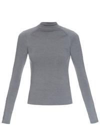 Balenciaga Staple Embellished Wool Top