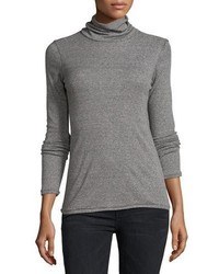 Current/Elliott The Turtleneck Top Heather Gray