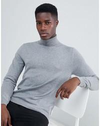Esprit Turtle Neck Jumper In 100% Cotton In Grey