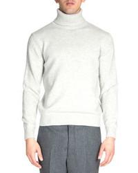 Ami Wool Turtleneck Sweater Light Gray