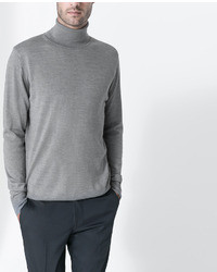 Zara Plain Turtle Neck Sweater