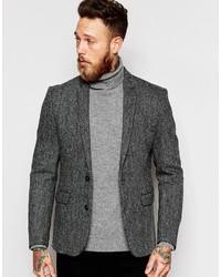 Asos Brand Slim Blazer In Harris Tweed