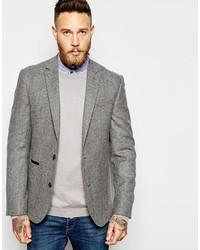 Asos Brand Slim Suit Jacket In Tweed