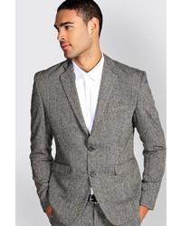 Boohoo Slim Fit Tweed Blazer