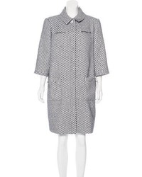 2016 striped tweed coat medium 6446545