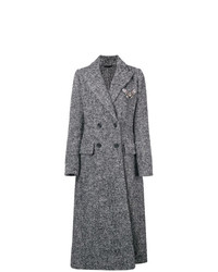 Ermanno Scervino Double Breasted Tweed Coat