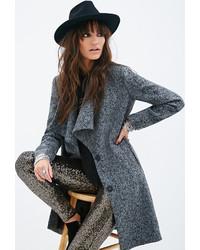 Forever 21 Longline Tweed Coat