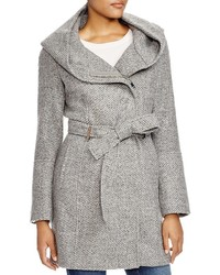 Calvin Klein Hooded Tweed Coat