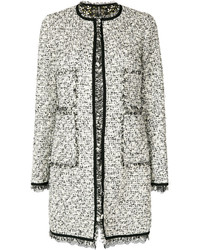 Lace trim tweed coat medium 6446554