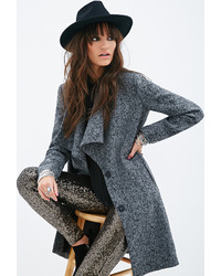 Forever 21 Longline Tweed Coat