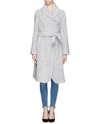 Nobrand Lurex Tweed Shawl Lapel Coat