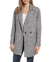 Melange notch collar coat medium 4950423