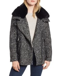 MICHAEL Michael Kors Michl Michl Kors Tweed Faux Moto Jacket