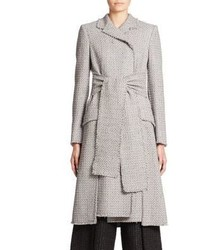 Proenza Schouler Fringed Tweed Coat