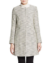 T tahari tweed knit coat medium 177325