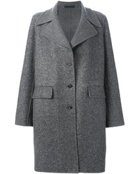 The Row Single Breasted Tweed Coat
