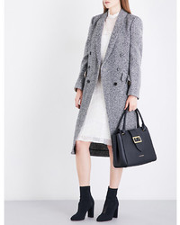 Burberry Trentwood Donegal Herringbone Wool Tweed Coat