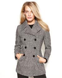 Calvin Klein Wool Cashmere Blend Pea Coat