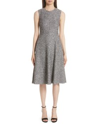 Lela Rose Sequined Tweed Fit Flare Dress
