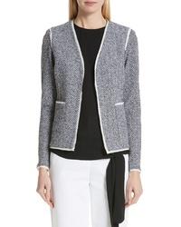 St. John Collection Abby Knit V Neck Jacket