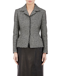 Maison Margiela Bonded Tweed Fitted Jacket