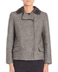Maison Margiela Double Breasted Tweed Jacket