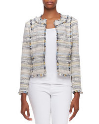 Tory Burch Greer Fringed Tweed Jacket
