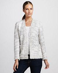 Neiman Marcus Bling Detailed Tweed Jacket