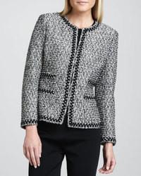 NM Exclusive Zigzag Trim Tweed Jacket Nm