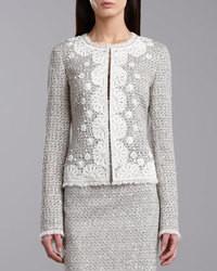 St. John Collection Speckled Tweed Jacket Porcelain