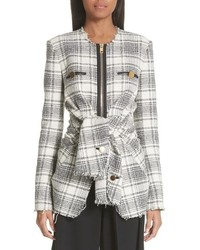 Alexander Wang Tie Front Tweed Jacket