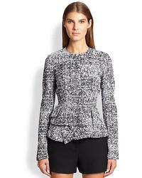 Proenza Schouler Tweed Chiffon Peplum Jacket