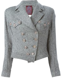 Vintage tweed biker jacket medium 347230