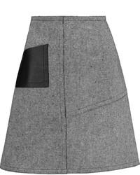 Sandro Janelle Leather Paneled Tweed Mini Skirt