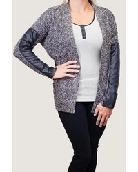 Grey tweed cardigan medium 167378
