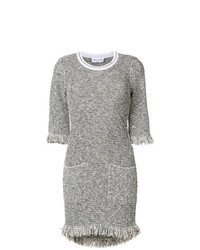 Grey Tweed Shift Dress